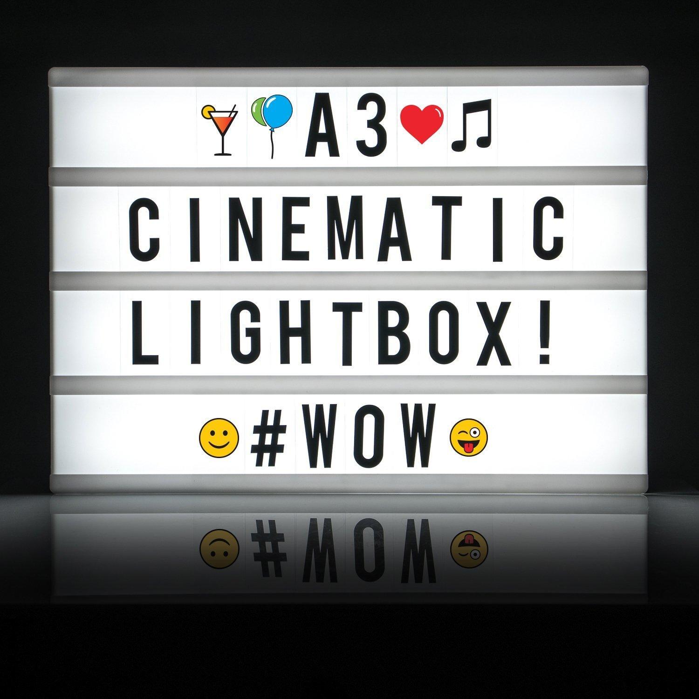 cartel publicitario letras lightbox